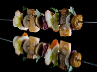 Krabbespyd med nykokt kongekrabbe, shitake, bacon1023(116)