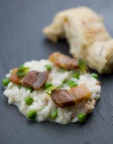 03 risotto med erter og bacon
