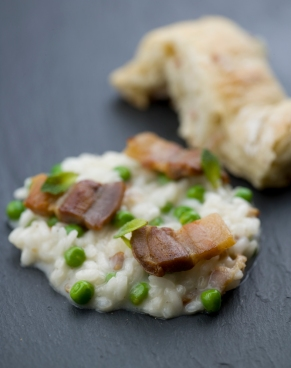 03 risotto med erter og bacon