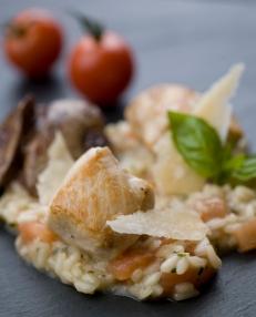 04 risotto med erter og bacon
