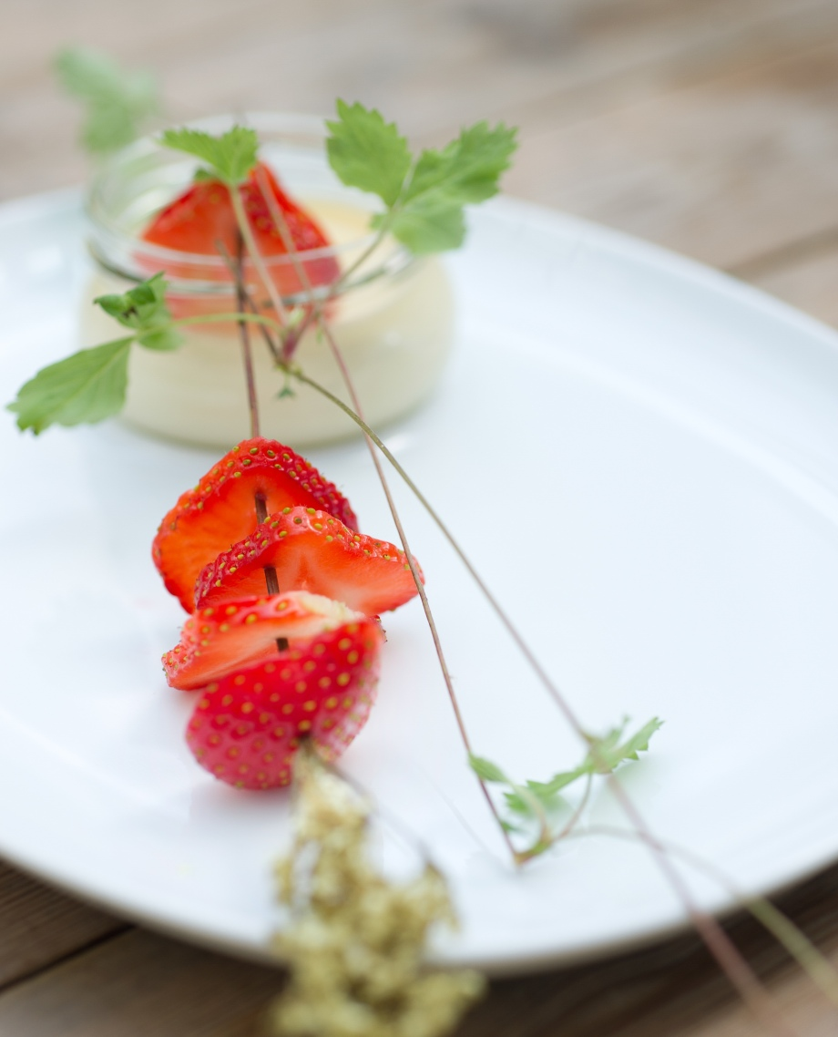 fløterand m jordbær